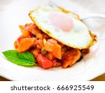 caponata with fried egg