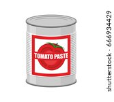 tomato paste tin can. canned... | Shutterstock .eps vector #666934429