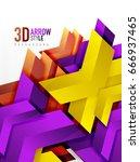 techno arrow background  vector ... | Shutterstock .eps vector #666937465