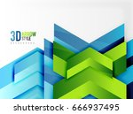 techno arrow background  vector ... | Shutterstock .eps vector #666937495