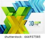 techno arrow background  vector ... | Shutterstock .eps vector #666937585