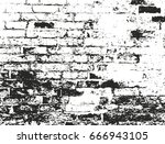 distressed overlay texture of... | Shutterstock .eps vector #666943105