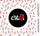 chilli logo design | Shutterstock .eps vector #666944215