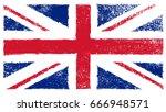 grunge uk flag.vector british...   Shutterstock .eps vector #666948571