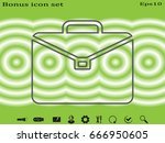 portfolio of business  icon ... | Shutterstock .eps vector #666950605