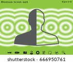 man  silhouette  a user icon ... | Shutterstock .eps vector #666950761