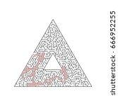 vector maze templates. circle...   Shutterstock .eps vector #666952255