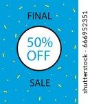 banner  flyer for printing. a... | Shutterstock .eps vector #666952351