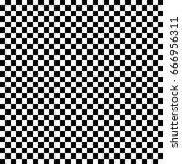 black and white checkered... | Shutterstock .eps vector #666956311