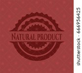 natural product retro red emblem | Shutterstock .eps vector #666956425
