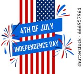 independence day banners flag... | Shutterstock .eps vector #666957961