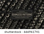 collection of 10 different... | Shutterstock .eps vector #666961741