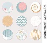 vector art of round label... | Shutterstock .eps vector #666962671