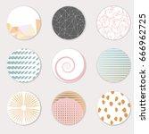 vector art of round label... | Shutterstock .eps vector #666962725