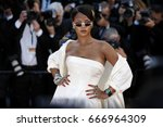 cannes  france   may 19  singer ... | Shutterstock . vector #666964309