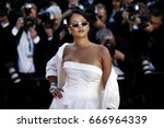 cannes  france   may 19  singer ... | Shutterstock . vector #666964339