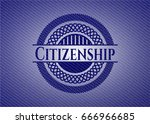 citizenship badge with jean... | Shutterstock .eps vector #666966685