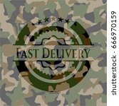 fast delivery on camouflaged... | Shutterstock .eps vector #666970159