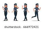 police character vector design | Shutterstock .eps vector #666972421