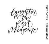 laughter is the best medicine... | Shutterstock .eps vector #666973351