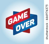 game over arrow tag sign. | Shutterstock .eps vector #666976375