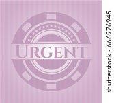 urgent pink emblem. vintage. | Shutterstock .eps vector #666976945