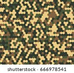 seamless bright woodland...   Shutterstock . vector #666978541