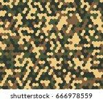 seamless bright woodland...   Shutterstock .eps vector #666978559