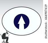 arrow indicates the direction ... | Shutterstock .eps vector #666987619
