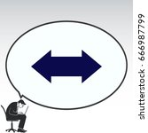arrow indicates the direction ... | Shutterstock .eps vector #666987799