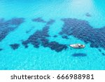 beautiful bay with sailing... | Shutterstock . vector #666988981