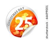 stickers of gift set design ...   Shutterstock .eps vector #66699001