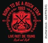 new york city   brooklyn rock...   Shutterstock .eps vector #666996541