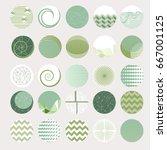 vector set of 25 round label... | Shutterstock .eps vector #667001125