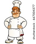 cartoon chef. from a large set... | Shutterstock .eps vector #667004377