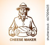 cheese maker  farmer  cheese... | Shutterstock .eps vector #667004635