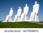 esbjerg   may 25 2017  the men... | Shutterstock . vector #667008691