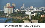 santo domingo waterfront ... | Shutterstock . vector #667011199
