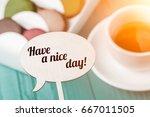 words on wooden board against... | Shutterstock . vector #667011505
