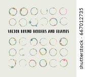 round paint brush strokes ... | Shutterstock .eps vector #667012735