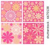 floral retro vector flower... | Shutterstock .eps vector #6670138