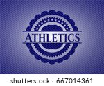 athletics with denim texture | Shutterstock .eps vector #667014361