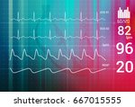 patient monitoring abstract  ... | Shutterstock .eps vector #667015555