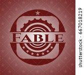 fable red emblem. retro | Shutterstock .eps vector #667018219