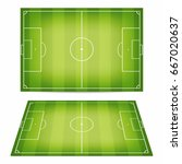 soccer field collection.... | Shutterstock .eps vector #667020637