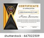 design certificate of... | Shutterstock .eps vector #667022509