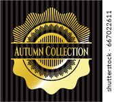 autumn collection gold badge | Shutterstock .eps vector #667022611