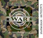 war camouflage emblem | Shutterstock .eps vector #667022971