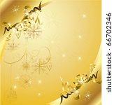 golden christmas background | Shutterstock .eps vector #66702346
