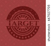 target badge with red background | Shutterstock .eps vector #667027705